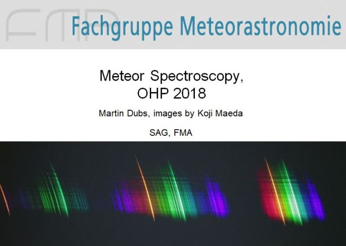 MeteorSpectroscopy OHP 2018